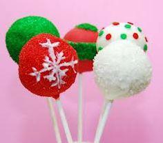 Cakepops navideños. Un toque de color en el postre