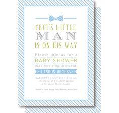 Little Man Bow Tie Invitation