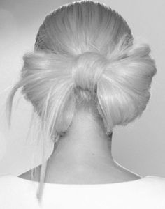 The Hair Bow. I think this is blonde hair, but it would be adorable in pink.