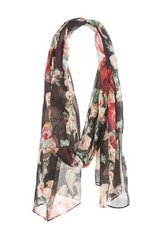 Floral Print Pixelated Scarf (original price, $14) available at #Maurices