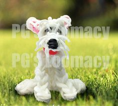 Rainbow loom westie dog