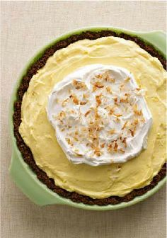 Easy Lemon-Coconut Cream Pie – No matter how busy the day gets, there's time for this Easy Lemon-Coconut Cream Pie: 15 minutes to make, a few hours in the fridge—and voila! Dessert.
