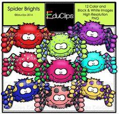 FREE Spider Brights Clip Art Bundle