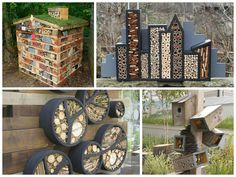 11 inspirations for insect hotels #BugsHotel, #InsectHotel