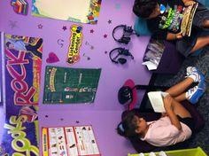 Rock star theme classroom listening center