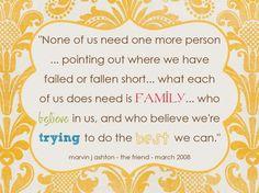 ....and Spiritually Speaking: Family