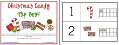 flip books, candies, christmas candy, country christmas, candi math, math flip, christma candi, number 120, christmas ideas