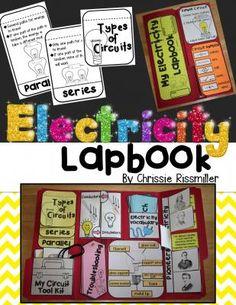 Electricity Lapbook Interactive Kit |