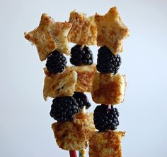 fruit and waffle/french toast skewers