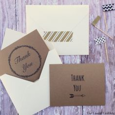 4 {FREE} Printable Thank You Cards.  Love these! The Casual Craftlete