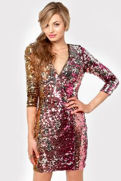Rubber Ducky Dress - Sequin Dress - Multicolored Dress - $150.00 - great for that company holiday party where there are tons of people and a few you want to impress, or even better, a party you were invited to by a hot date !! #lulusholiday