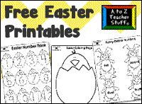 Easter Printables: Easter Bunny, Hatching Chicks, Eggs {free}