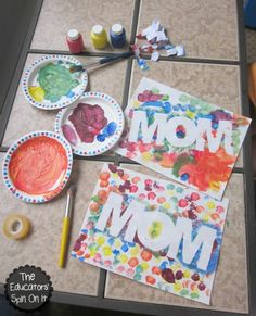 DIY Easy Colorful Mother's Day Gift - DIY & Crafts For Moms