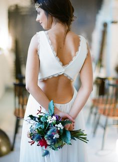 the back #wedding #dress