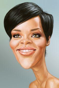 Rihanna #Caricature #FunnyFaces