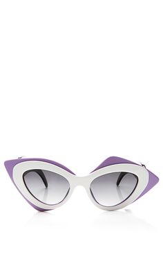 Shop now: Prabal Gurung Cat-Eye Acetate Sunglasses by Linda Farrow