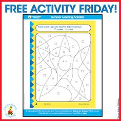 A fun, free printable activity for little ones! Find the Hidden Picture!