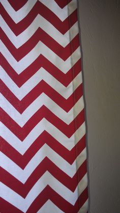 Red Chevron Curtain Panels or Valance by DesignsbyChristyS on Etsy, $35.00