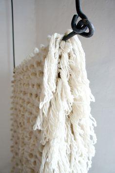 Palomita Wool and Cotton Bouclé Blanket - Mexchic