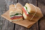 cute way to serve sandwiches at a party