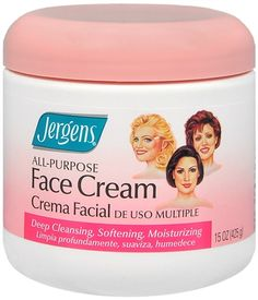 Everyone always ask about my skin secrets:- Here you go! Old fashioned Jergens face cream.  Its less than 10 dollars. Use nightly and smile in the morning.