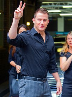 Channing Tatum steps out in London.