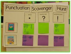 punctuation scavenger hunt..fun!
