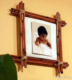 DIY Bamboo Photo Frame (Recycled Place-mats)