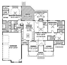 Home Plans HOMEPW03117 - 2,156 Square Feet, 3 Bedroom 3 Bathroom Craftsman Home with 3 Garage Bays - don't need 3 bays but like the basic layout.