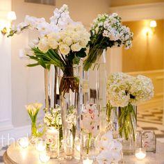 Modern White Flower Arrangements