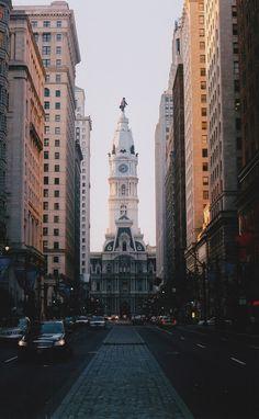 Philly ~ Philadelphia City Hall, with statue of William Penn on top. Philadelphia, PA