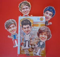 One Direction-1D Inspired Set of 5 Party Favor Bookmarks. $15.00, via Etsy.