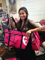 Pink Vail upcycles old banners and helps Denver women in need.