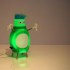 Lamp of the day (made from a recycled detergent bottle)