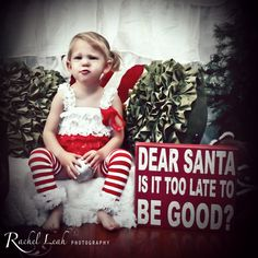 """Dear Santa, is it too late to be good?"" Rachel Leah Photography's Christmas Mini Sessions"