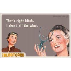 Wine is all mine!