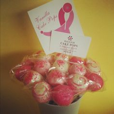 Breast Cancer Awareness Cake Pop Gift
