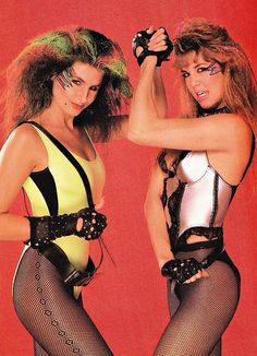 Hollywood and Vine from the 1980s wrestling TV show GLOW.