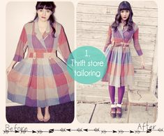 DIY Fashion. Thrift store dress tailoring.