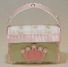 Diaper bag gift bag using Baby Girl and Pretty Purses from SVG Attic.com