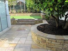 Garden ideas on pinterest for Low maintenance planting schemes