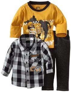 Amazon.com: Little Rebels Baby-Boys Infant 3 Piece SK8 Pant Set: Clothing 21.00 amazon.com