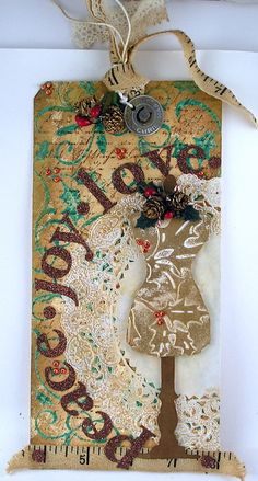 Geinspireerd door Tim Holtz 12 tags of Christmas 2011 - tag 9