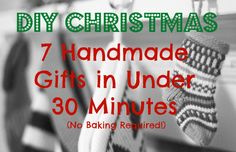 DIY Christmas: 7 Handmade Gifts in Under 30 Minutes | TheSweetPlantain.com
