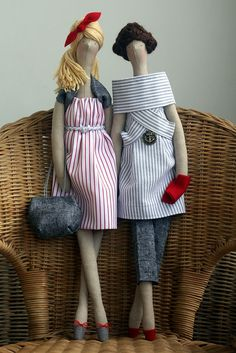 Cute fashionable dolls