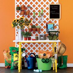 Organizing your gardening space puts the joy in your work & makes your work easier.