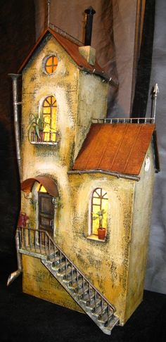 Russian dollhouse made of clay. It took my breath away.