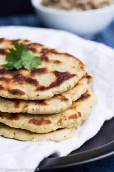 The perfect gluten-free naan bread made with high-protein quinoa flour!