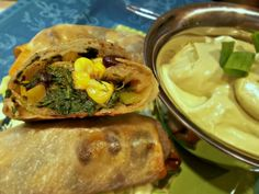 Baked Southwestern Egg Rolls With Avocado Ranch