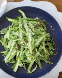 Shaved Raw Asparagus with Parmesan Dressing Recipe on Food & Wine